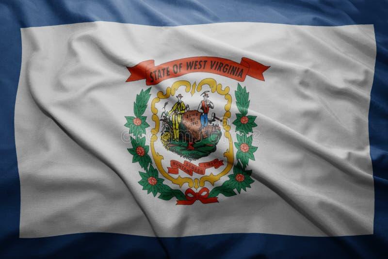 Флаг положения Западной Вирджинии стоковая фотография