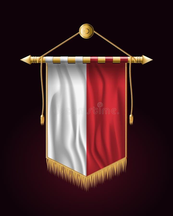флаг Польша Праздничное вертикальное знамя Смертные казни через повешение стены иллюстрация штока