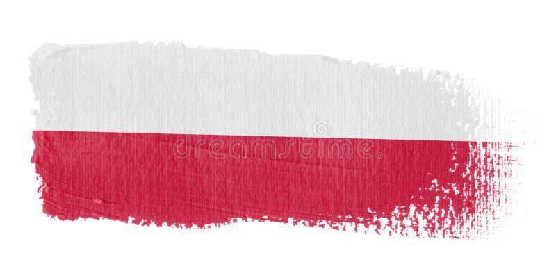 флаг Польша brushstroke иллюстрация штока