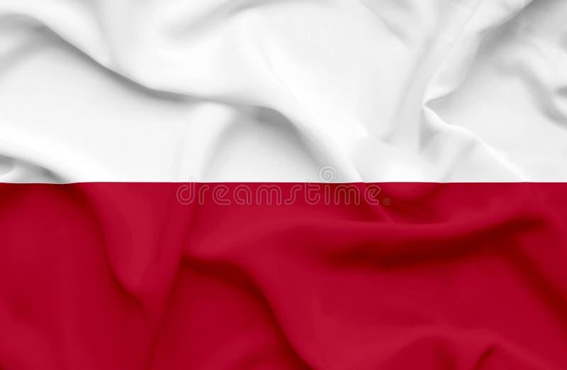 Флаг Польши развевая стоковые изображения