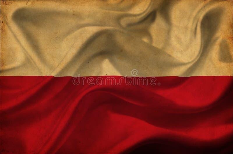 Флаг Польши развевая стоковая фотография rf