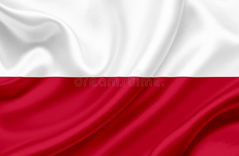 Флаг Польши развевая стоковое фото rf
