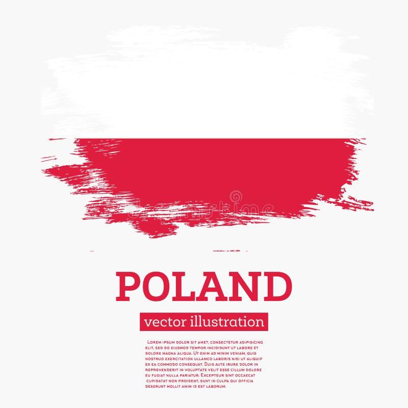Флаг Польши с ходами щетки бесплатная иллюстрация