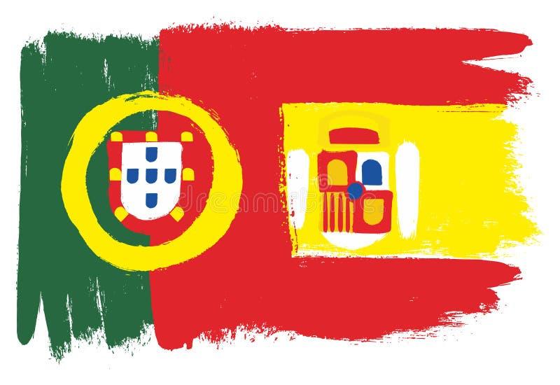 Флаг Португалии иллюстрация вектора