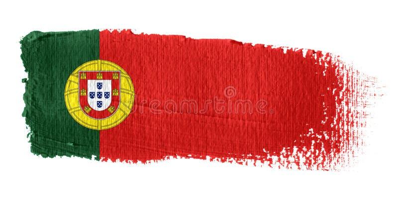 флаг Португалия brushstroke иллюстрация штока