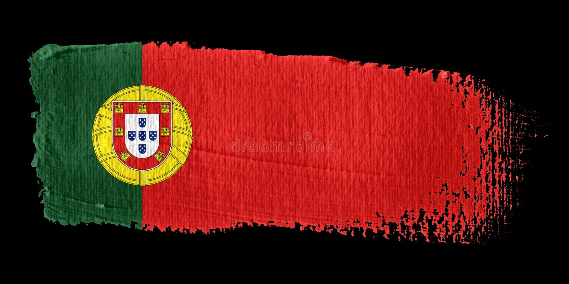 флаг Португалия brushstroke иллюстрация вектора