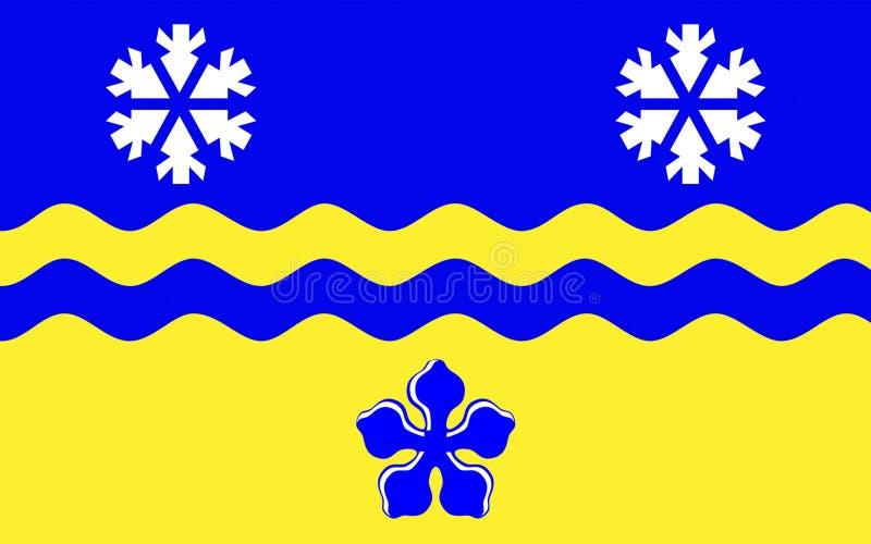 Флаг принца Джордж в Британской Колумбии, Канады стоковая фотография rf