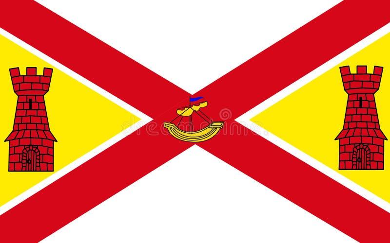 Флаг пробочки графства самое большое и самое южное графство в инфракрасн бесплатная иллюстрация
