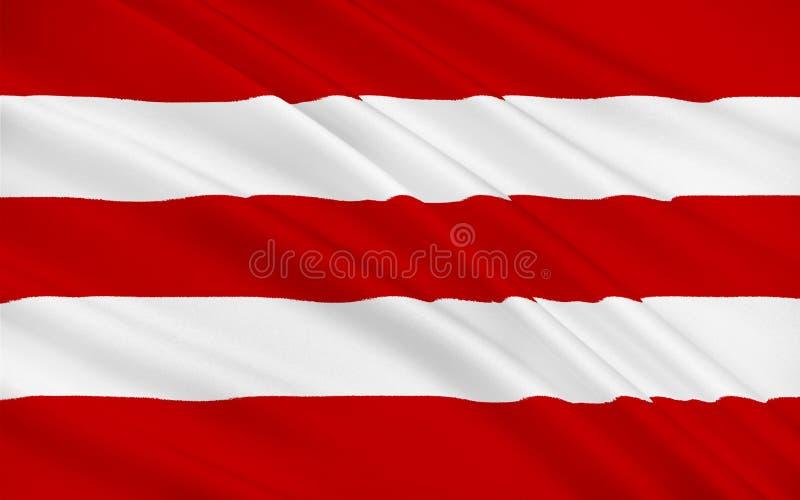 Флаг пробочки графства самое большое и самое южное графство в инфракрасн иллюстрация вектора