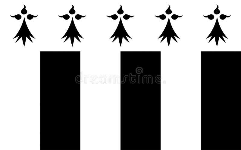 Флаг Ренна, Франции стоковая фотография