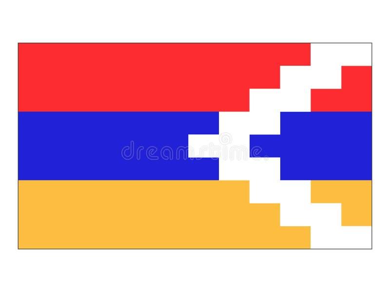 Флаг республики Artsakh Nagorno-Karabakh Иллюстрация вектора - иллюстрации  насчитывающей флаг, karabakh: 134274659