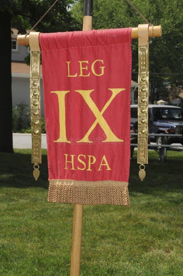 Флаг римского легиона стоковая фотография