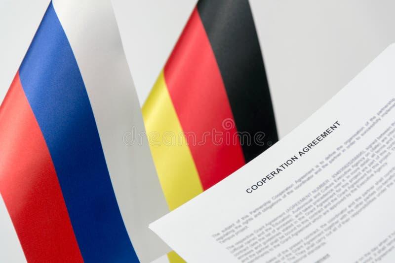 Флаг России Германии проекта стоковое фото