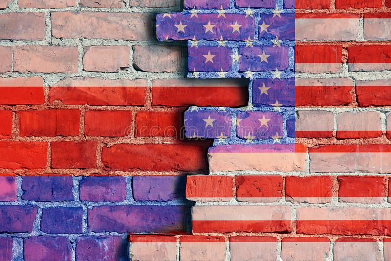 Флаг России и Америки стоковые изображения rf