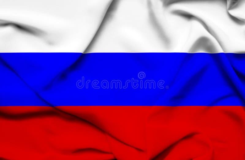 Флаг России развевая иллюстрация вектора