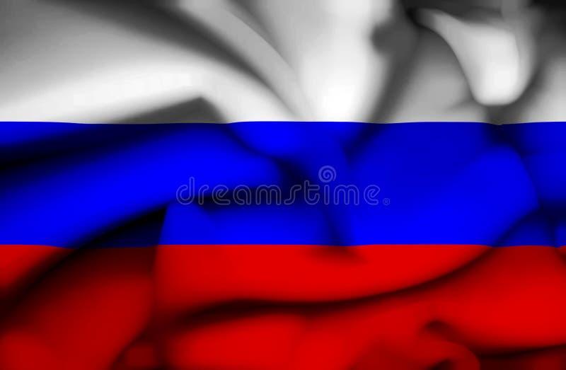 Флаг России развевая иллюстрация штока