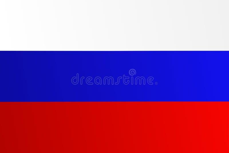 Флаг России с переходным оттенком - vector изображение иллюстрация вектора