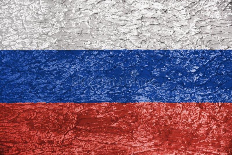 Флаг России текстуры на стене стоковые фото