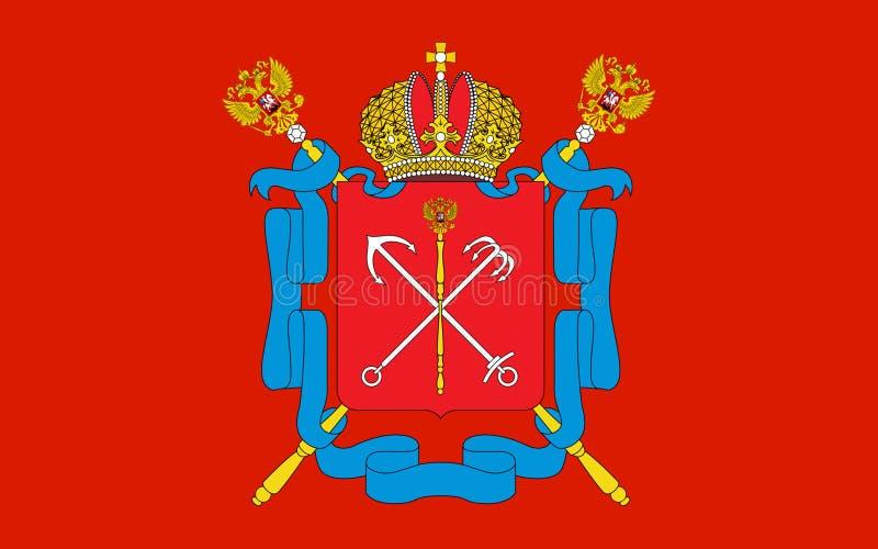 Флаг Санкт-Петербурга, России стоковые фотографии rf