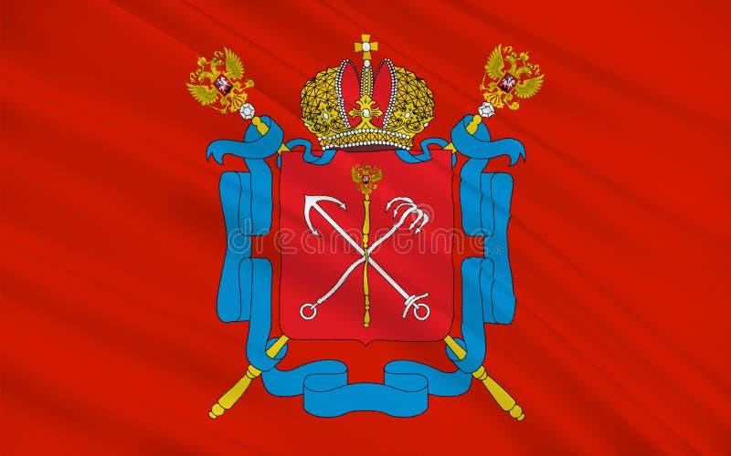 Флаг Санкт-Петербурга, России стоковое фото