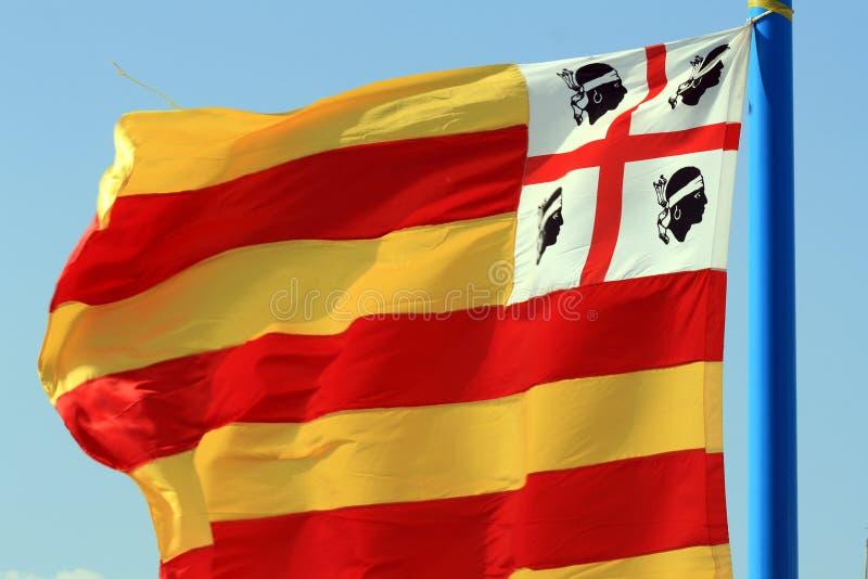 флаг Сардиния стоковые изображения rf