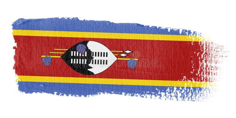 флаг Свазиленд brushstroke иллюстрация вектора