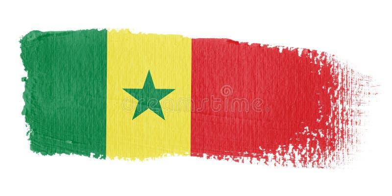 флаг Сенегал brushstroke бесплатная иллюстрация