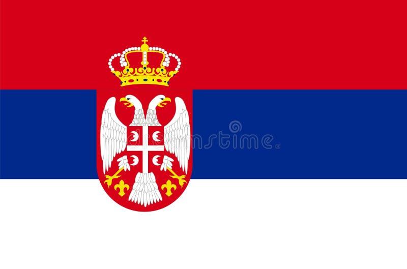 флаг Сербия иллюстрация вектора