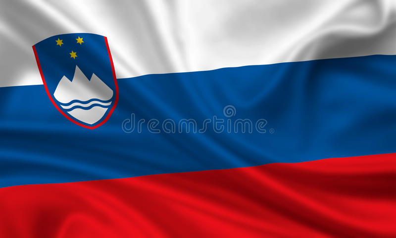 флаг Словения стоковые изображения