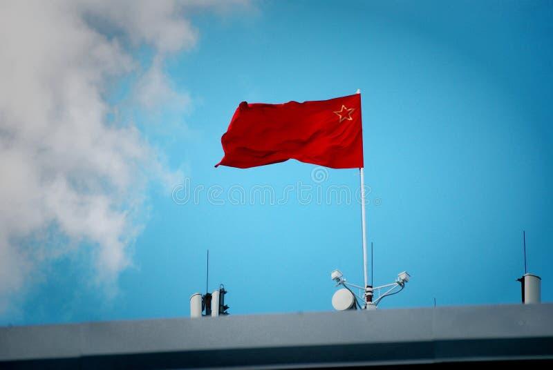Флаг Советского Союза превращается против голубого неба стоковое изображение rf