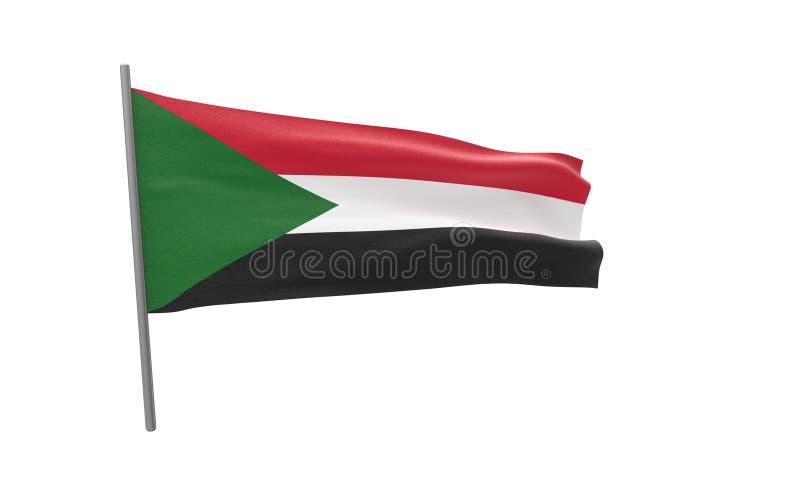 Флаг Судана стоковое изображение rf