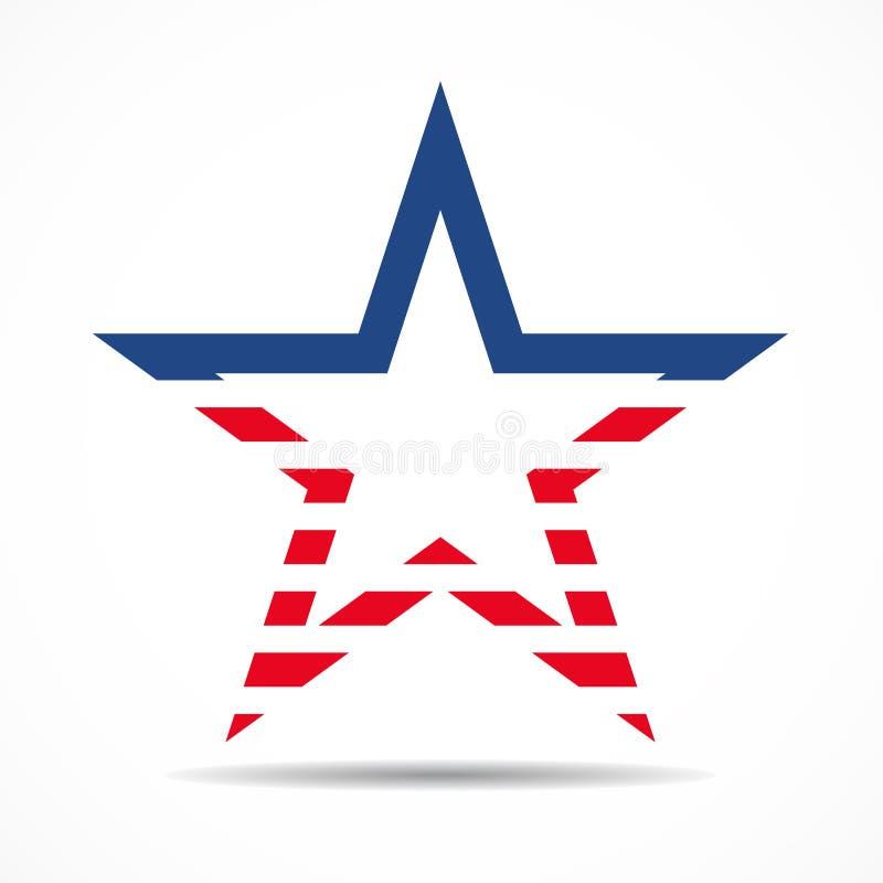 Флаг США в форме звезды американская звезда бесплатная иллюстрация