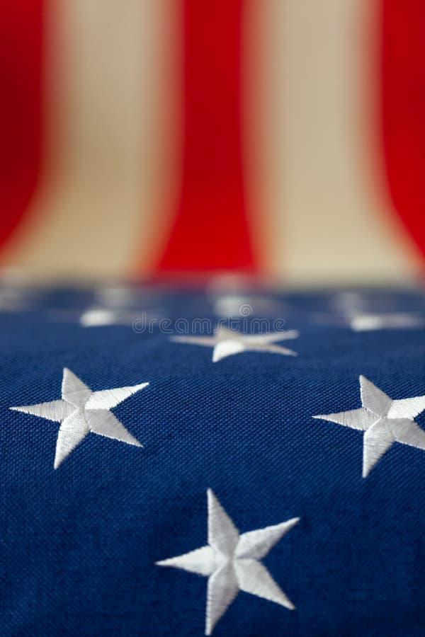 Флаг США деревенский - конец вверх по съемке студии стоковые фото