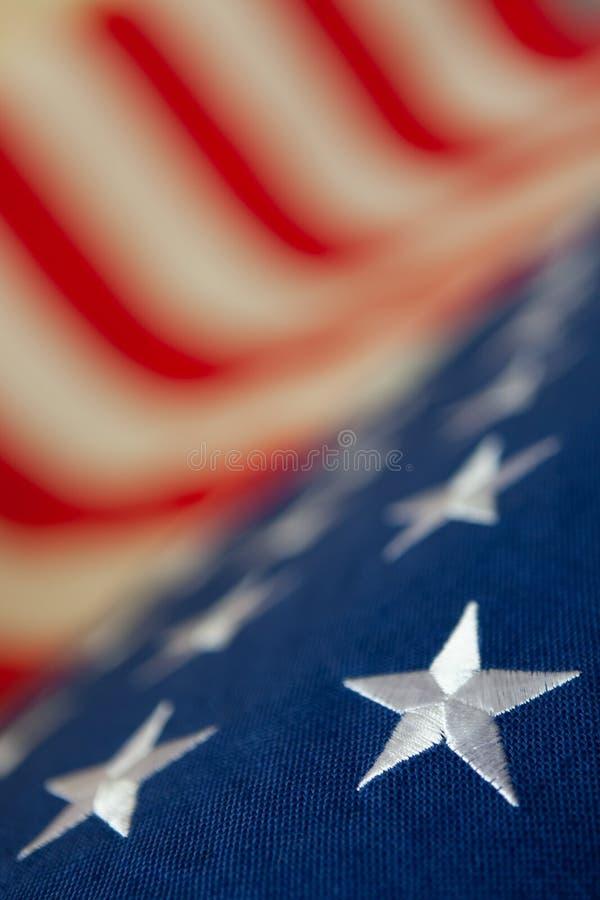 Флаг США - конец вверх по съемке стоковые изображения