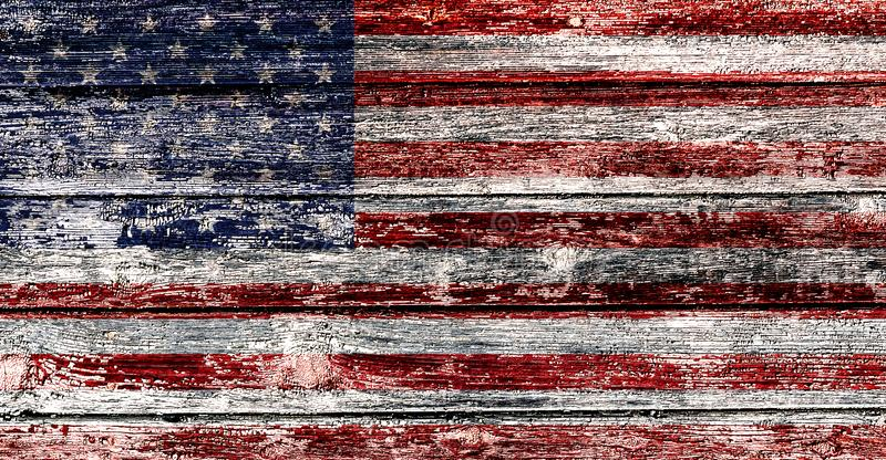 Флаг США на старой деревянной предпосылке, счастливом Дне независимости стоковая фотография