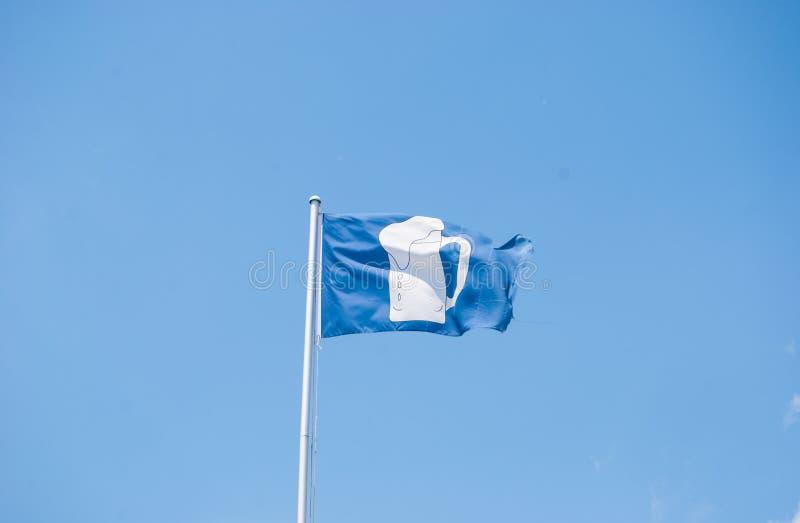 Флаг с кружкой пива стоковая фотография