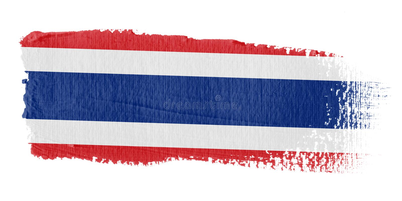 флаг Таиланд brushstroke бесплатная иллюстрация