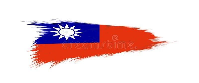Флаг Тайваня в ходе щетки grunge бесплатная иллюстрация
