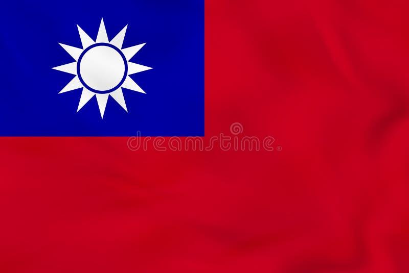 Флаг Тайваня развевая Текстура предпосылки национального флага Тайваня бесплатная иллюстрация