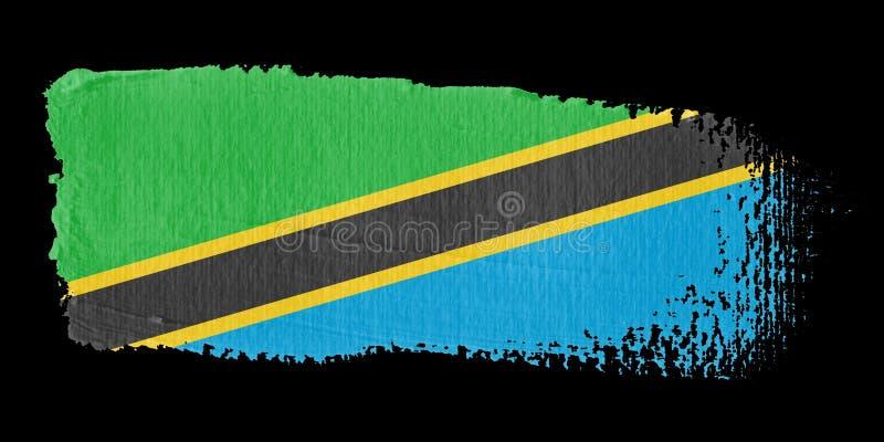 флаг Танзания brushstroke иллюстрация вектора