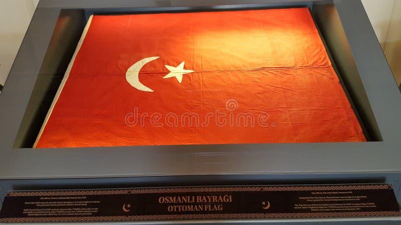Флаг тахты от Muesum, Турции стоковое изображение rf
