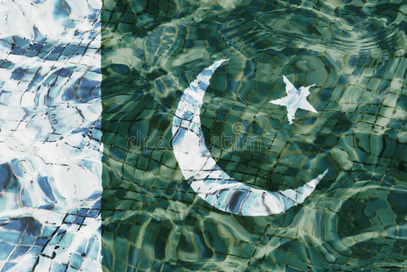 Флаг текстуры Пакистана и PrÃncipe бесплатная иллюстрация
