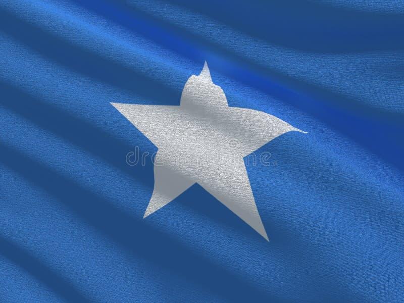 Флаг текстуры ткани Сомали иллюстрация штока
