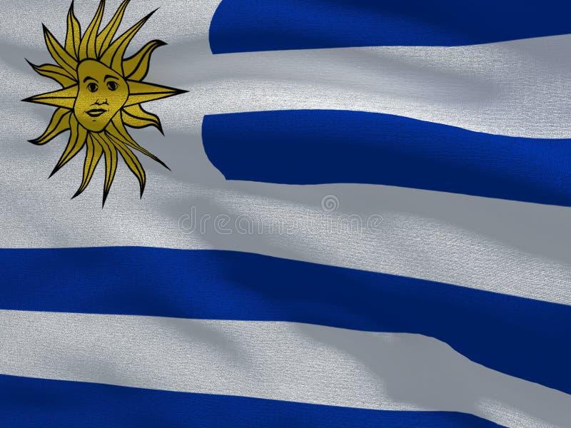 Флаг текстуры ткани Уругвая иллюстрация штока