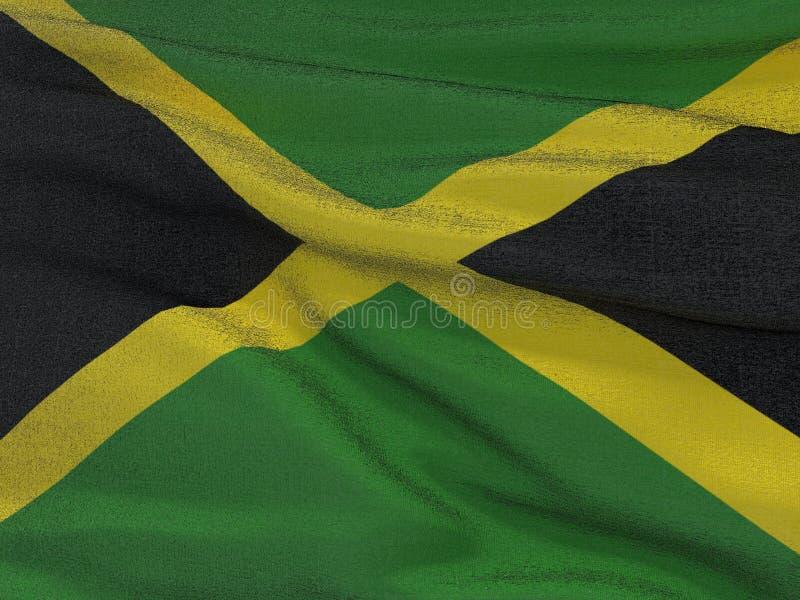 Флаг текстуры ткани Jamaika иллюстрация вектора