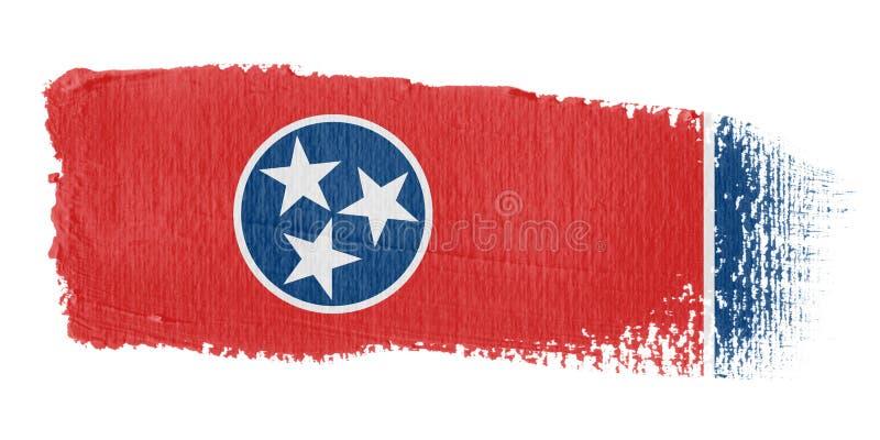 флаг Теннесси brushstroke иллюстрация штока