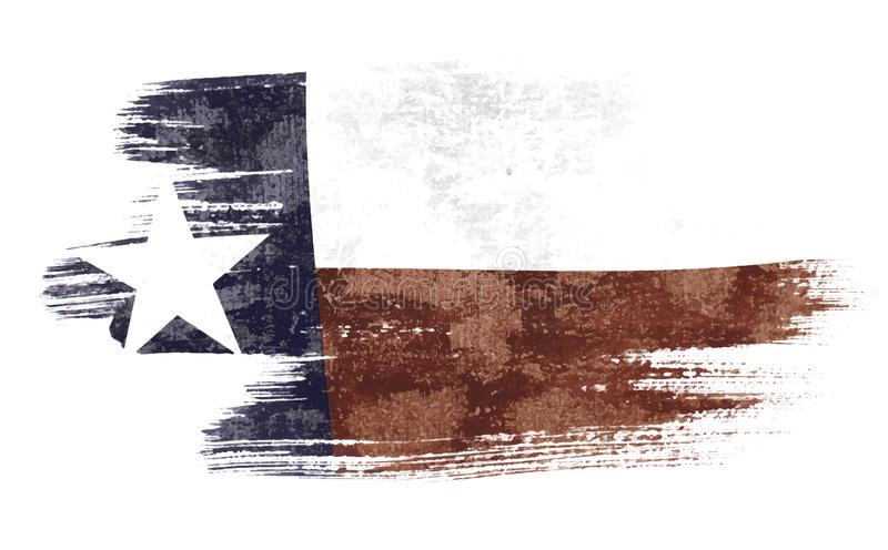 Флаг Техаса иллюстрация вектора