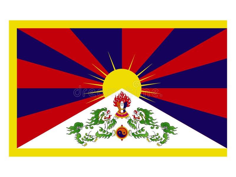 флаг Тибет иллюстрация вектора