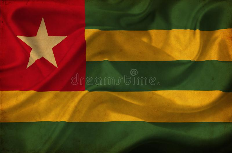 Флаг Того развевая стоковая фотография