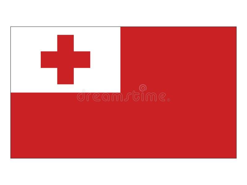 флаг Тонга иллюстрация штока